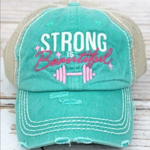 STRONG IS BEAUTIFUL Barbell Hat
